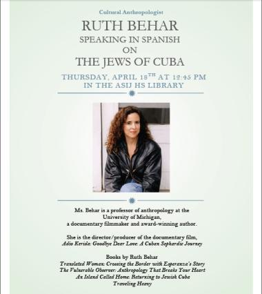 Ruth Behar Poster